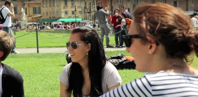 Frame del video Erasmus Life - Università di Pisa